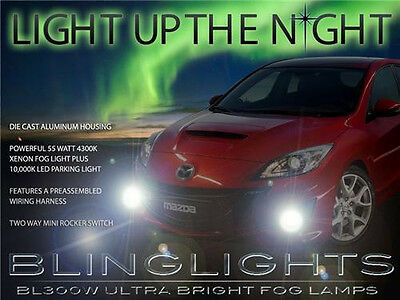 Fog Lamps Driving Lights Kit + Built-In DRLs for 2010 2011 2012 2013 MazdaSpeed3