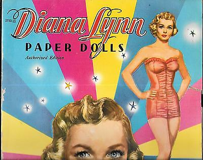 Diana Lynn Paper Dolls UNCUT 1953 Original Complete Good Condition For Age