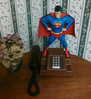 RARE Vintage 70's Model 41 MCC Superman Telephone EXCELLENT