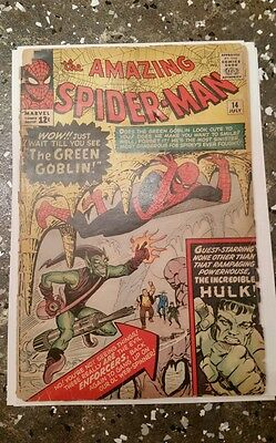The Amazing Spider-Man #14 (Jul 1964, Marvel) 1ST APP GREEN GOBLIN! 1ST PRINT
