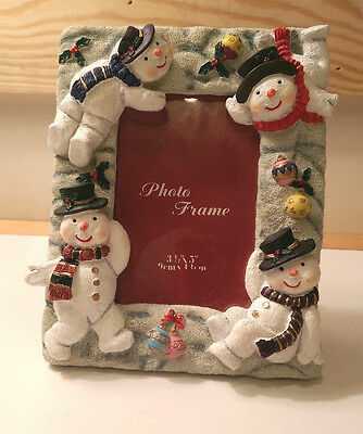 LET IT SNOW - Christmas Holiday Winter Snowman Photo Picture Frame Realistic Fun