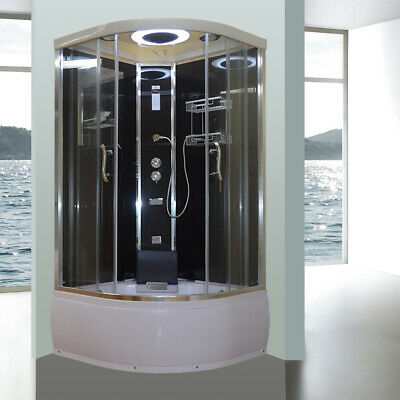 Asnzs Glass Shower Screen Cubicle Bathtub Jets Mixer Lcd Bluetooth Radio
