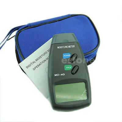4-Pin Digital LCD Wood Moisture Meter Humidity Damp Detector Tester 5%-40% Newly
