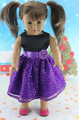 "2015 New Doll Clothes fits 18"" American Girl Handmade Hot Summer Dress X40"
