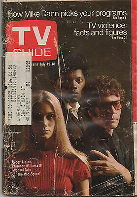 1969 TV Guide Peggy Lipton Clarence Williams III Michael Cole of 'The Mod Squad'