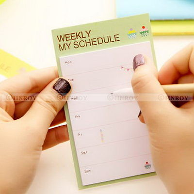 1pc Schedule Organizer Check List Daily Planner Sticker Sticky Notes Memo Pad