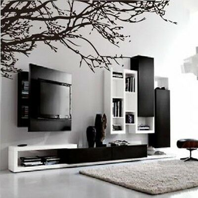 Decor DIY Black Tree Wall Sticker Removable Decal Room Home Wall Sticker