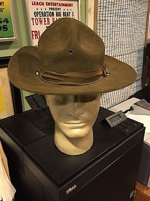 WW1 US Doughboy Wool Campaign Hat Vintage Military Antique