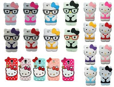 Hello Kitty Cute Silicone Soft Rubber Gel 3D Case  For iPhone&Samsung Models