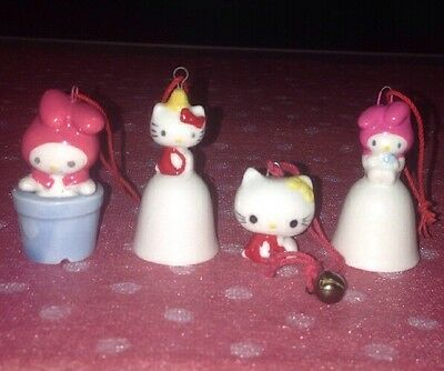 Vintage 1976 Sanrio Little Mascot Hello Kitty and My-Melody - Lot of 4 Ornaments