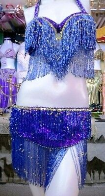 Belly Dance Professional Costume Dress New Bra And Belt Made To Fit Handmade A