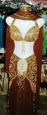 Professional New Belly Dance Costume Dress Fashion Made to Fit  Handmade FC47