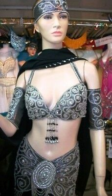 Professional New Belly Dance Costume Dress Fashion Made To Fit Handmade FC59