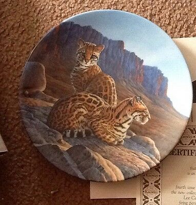 1990 Knowles The Ocelot Great Cats of the Americas Plate by Lee Cable