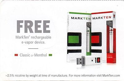 MarkTen Coupon - MarkTen rechargeable E-Vapor device, expires 04/30/2015