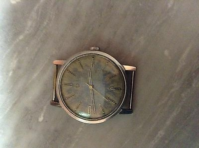 Faver Leuba Vintage Winding Watch In Full Working Order In All Stainless Steel