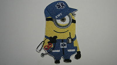 DESPICABLE ME MINION EMT EMERGENCY MEDICAL TECHNICIAN EMBROIDERED PATCH BADGE