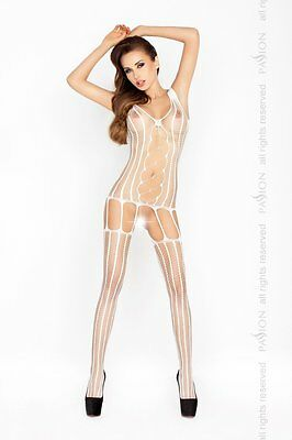 "Bodystocking ""BS013"" Damen-Body Catsuit ouvert Netz-Damenbody weiß von Passion"