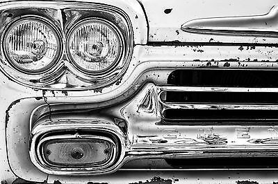 Superb Retro Vintage Classic Car Canvas #509 Quality Framed Picture Wall Art