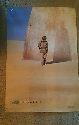 STAR WARS THE PHANTOM MENACE Original Movie Poster  Episode 1 Advance SS 27x40