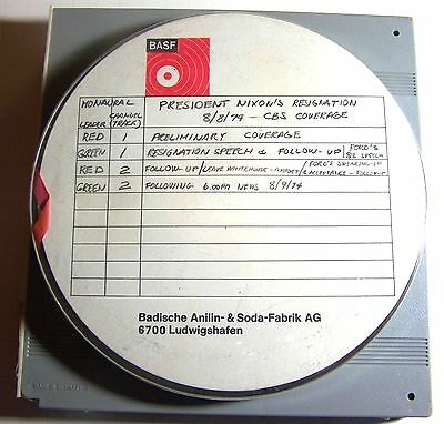 Vintage reel to reel tape of Nixon's Resignation Ford's Acceptance 1974