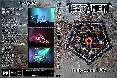 Testament - Live in Hollywood (DVD, 1992) Overkill Slayer Megadeth Iron Maiden