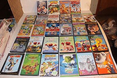 HUGE LOT OF 28 POPULAR NEW & USED Young Childrens DVD LOT OF ALL TYPES AWESOME!!