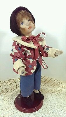 """Monte Dragone Italy Pinocchio Hand Crafted Articulated Porcelain Doll 13"""" RARE"""