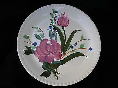 BLUE RIDGE SOUTHERN POTTERIES BLUEBELL BOUQUET CANDLEWICK 9.25''PLATE