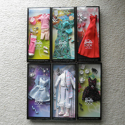 The Barbie Look Collection 6 Fashions!!  NRFB For the Adult Collector
