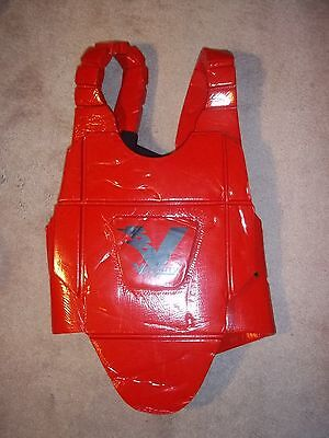 ProForce Velocity Chest Protector/Guard - Red Large MMA