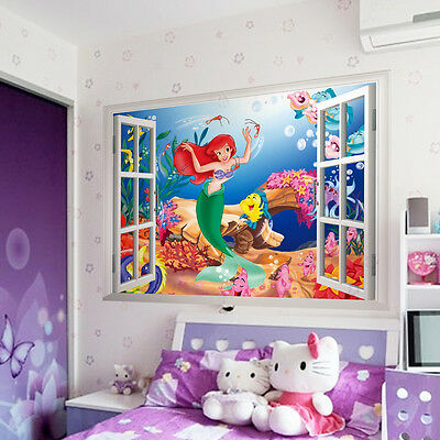 Chic The Little Mermaid Home Wall Decals Stickers Large SZ Vinyl Decor Mural Art