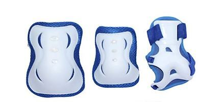 Cycling Roller Skate Skating Scooter KNEE ELBOW PALM Protective Gear Pad Blue