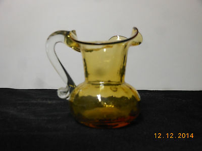 Amber Glass Small Pitcher - Vintage and Perfect
