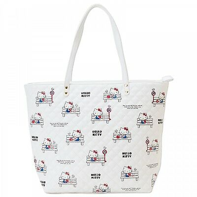 Hello Kitty Tote Bag Handbag Travel Shoulder Purse Quilt Sanrio from Japan S2430