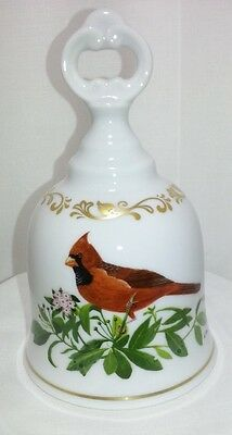 Danbury Mint Porcelain Bell Songbirds of America Cardinal Made in West Germany