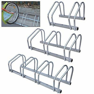 Bike Floor Wall 2/3/4 Mount Bicycle Locking Stand Cycle Rack Storage Garage Shed