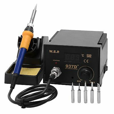 60W Soldering Iron Station ESD Safe Digital Display 937D +