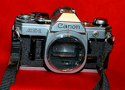 Canon AE-1 Program 35mm SLR Film Camera Body Only AE1 for PARTS OR REPAIR