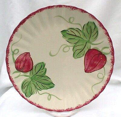 "Blue Ridge Southern Potteries Berryville Strawberry 10"" Plates TWO"