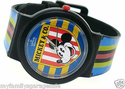 NEW Lorus By Seiko Disney Mickey Mouse & Co. Watch Multi Color Pinstripe