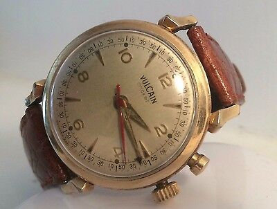 Vulcain Vintage Cricket Manual Wind Alarm Gold Filled 1950's Watch Ford Prize