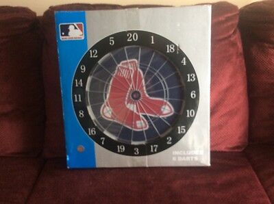 Red Sox Dartboard, Bristle type with 6 darts, New, Open Box