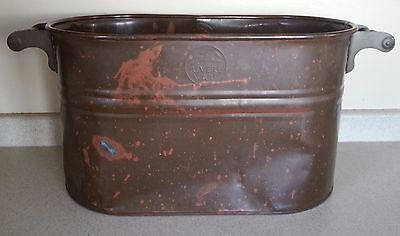 Large REVERE WARE Copper Bucket With Wood Handles **VINTAGE**