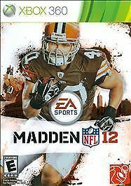 Madden NFL 12 Game and Case (Microsoft Xbox 360, 2011)