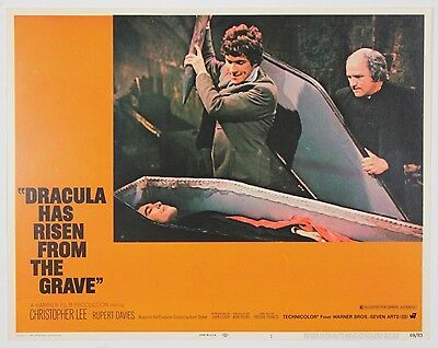 DRACULA HAS RISEN FROM THE GRAVE! ORIGINAL 1968 Vintage Horror Lobby Card! WB