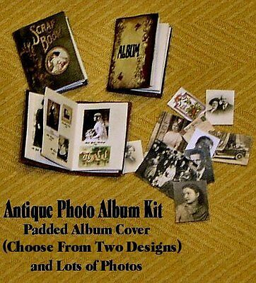 """KIT- 1/2"""" Scale Kit-Padded Photo Album with Vintage-Look & Pictures-Artisan Made"""