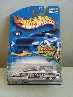 2002 hot wheels evil twin collecter #99 1/4 of the grave rave series