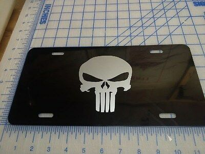 Punisher car tag/ license plate (silver)