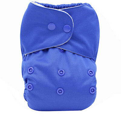 Blue Ventilate Baby Infant Nappy Cloth Diapers Covers Washable Size Adjustable